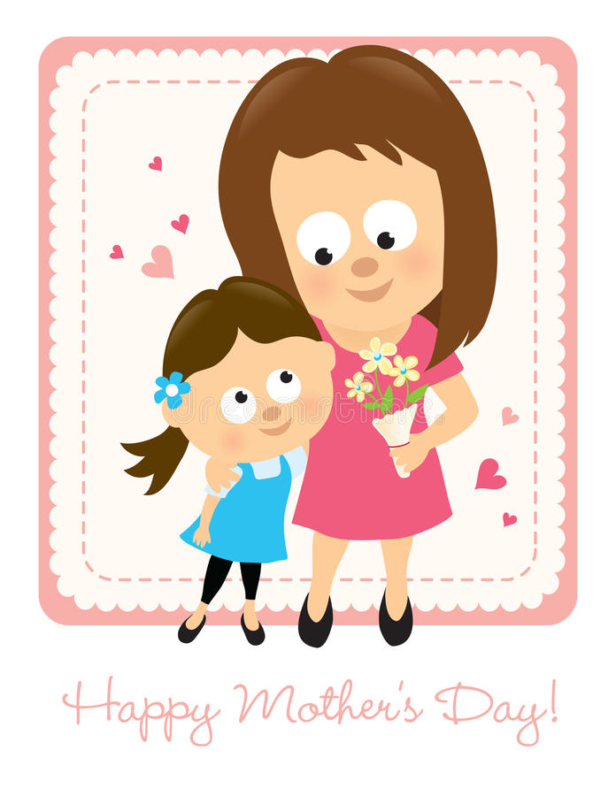 Download Happy Mother's Day stock vector. Image of daughter, love - 29685410