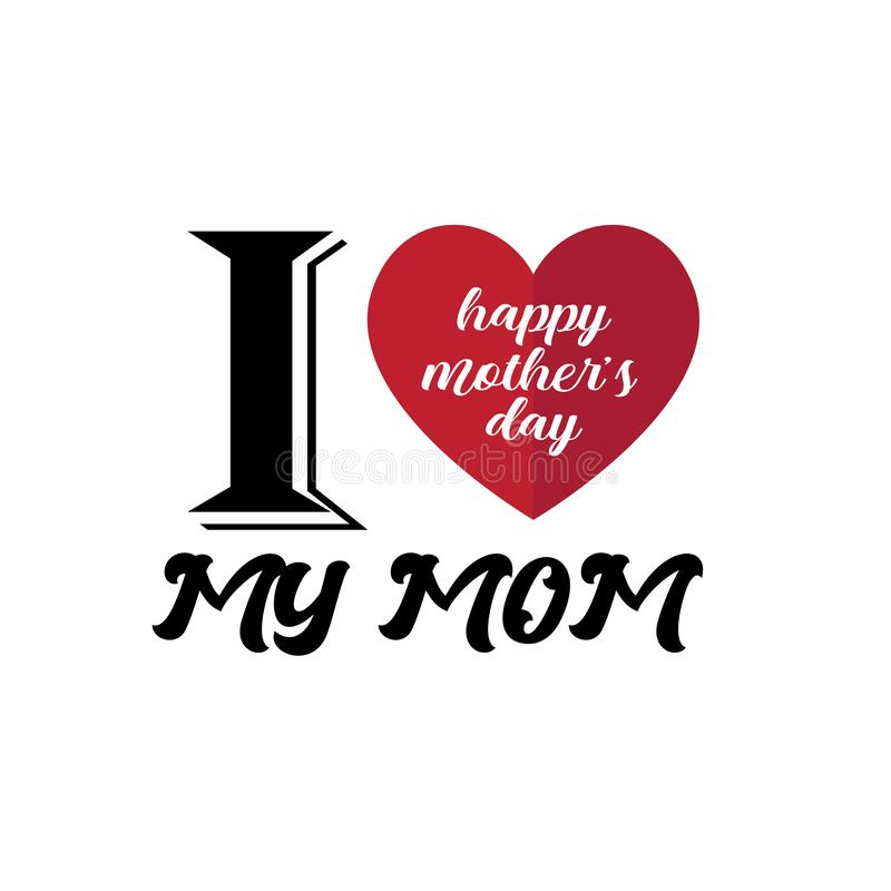 Happy Mother`s Day Calligraphy Background - Vector vector illustration