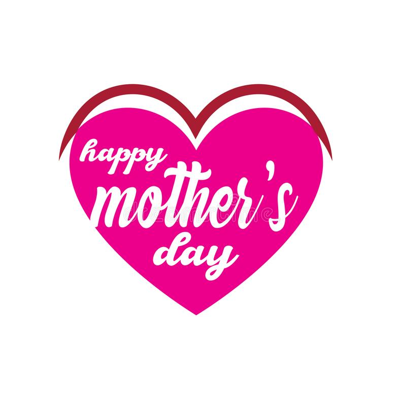 Happy Mother`s Day Calligraphy Background - Vector stock illustration