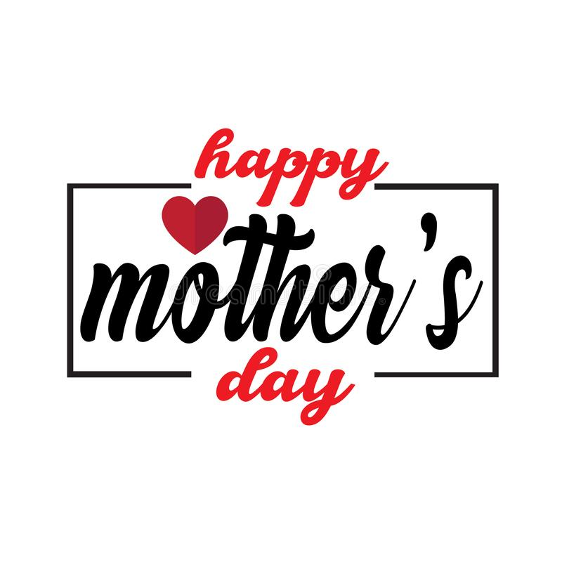 Happy Mother`s Day Calligraphy Background - Vector royalty free illustration