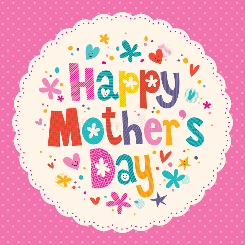 Happy MotherS Day Card Stock Vector Illustration Of Copy