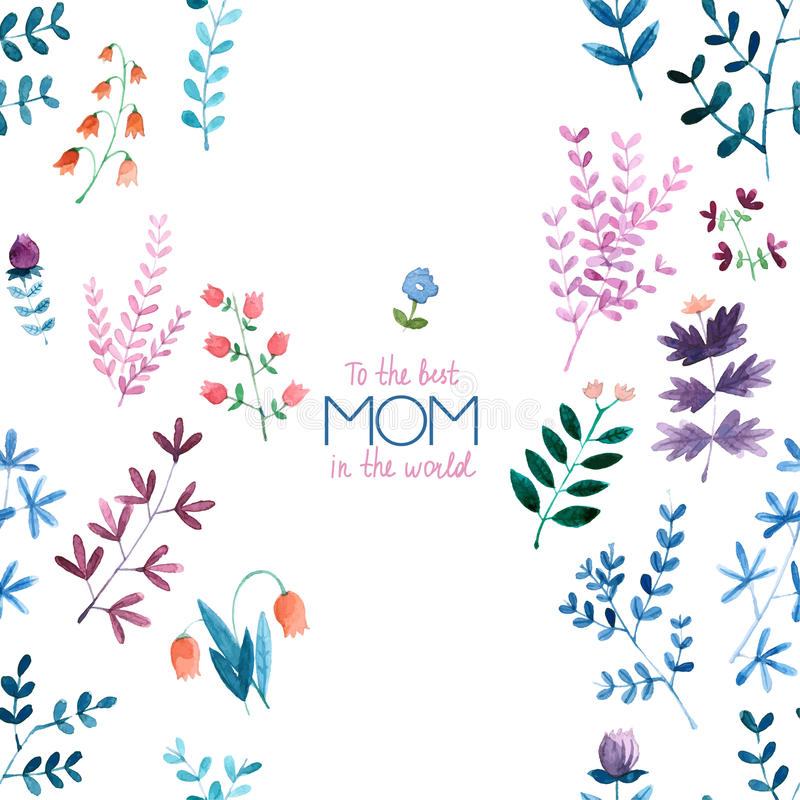 Happy mother`s day card - illustration. stock photo