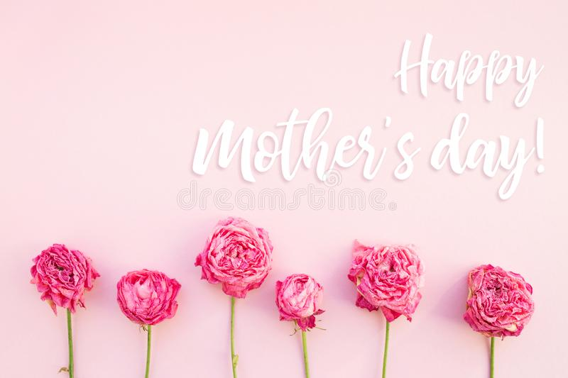 Happy Mother`s day card. stock images