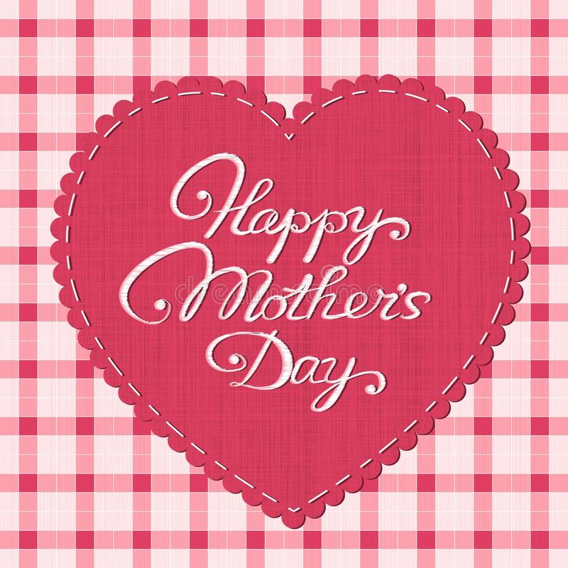 Happy mother's day card royalty free illustration