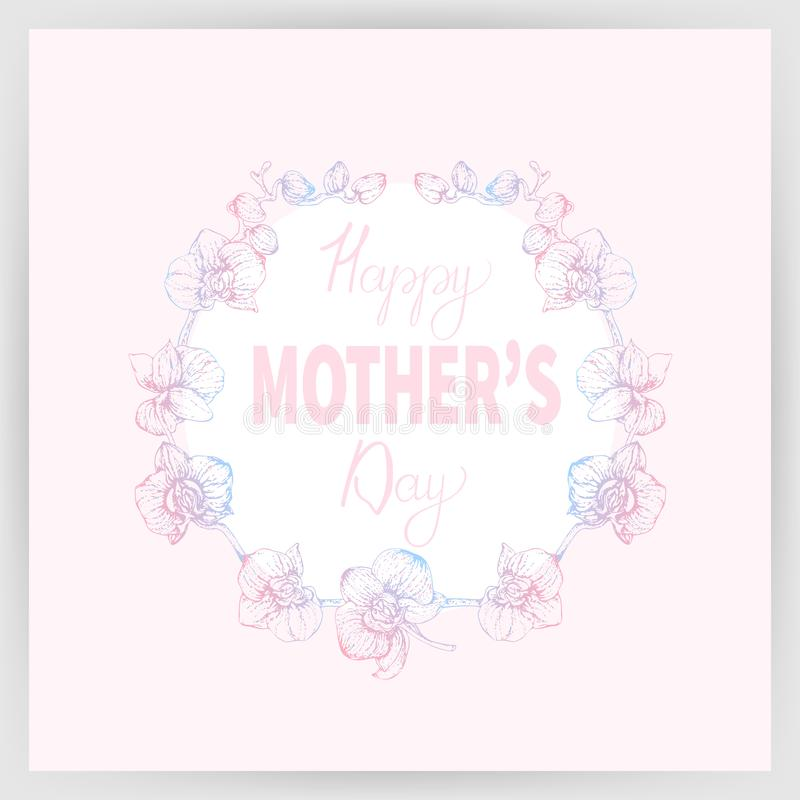 Happy mother`s day 1_01 royalty free illustration