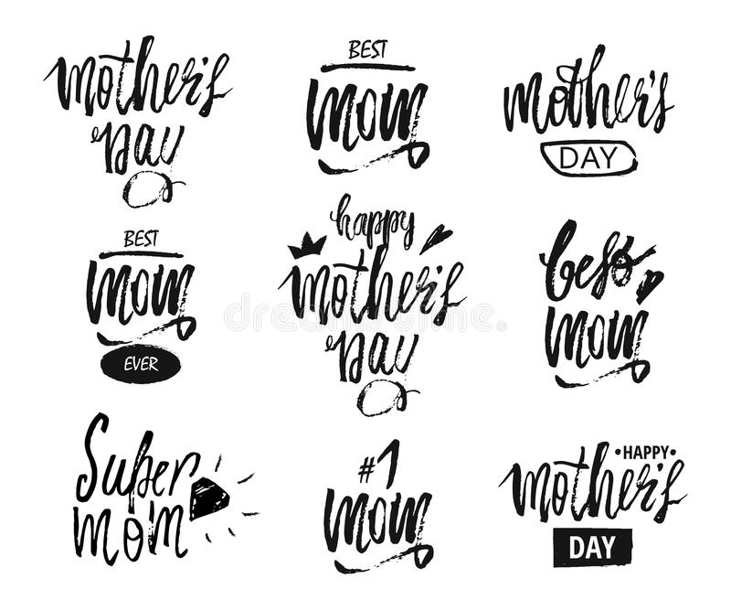 Happy Mother s Day design background. Lettering design. Greeting card. Calligraphy Background template for Mother s Day royalty free illustration