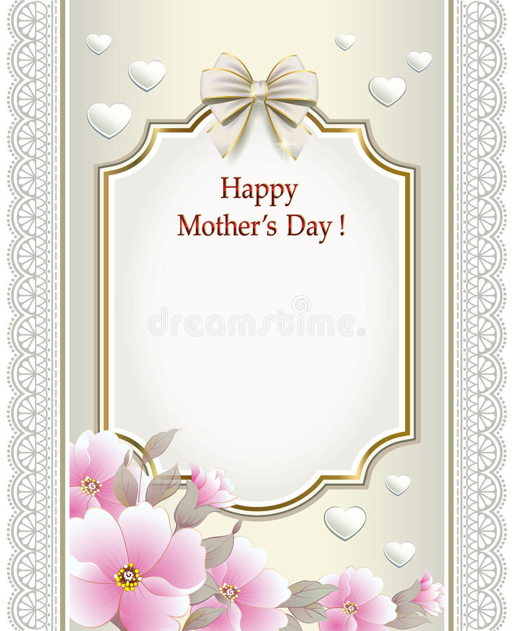 Happy Mother\'S Day stock vector. Illustration of celebration - 53817457