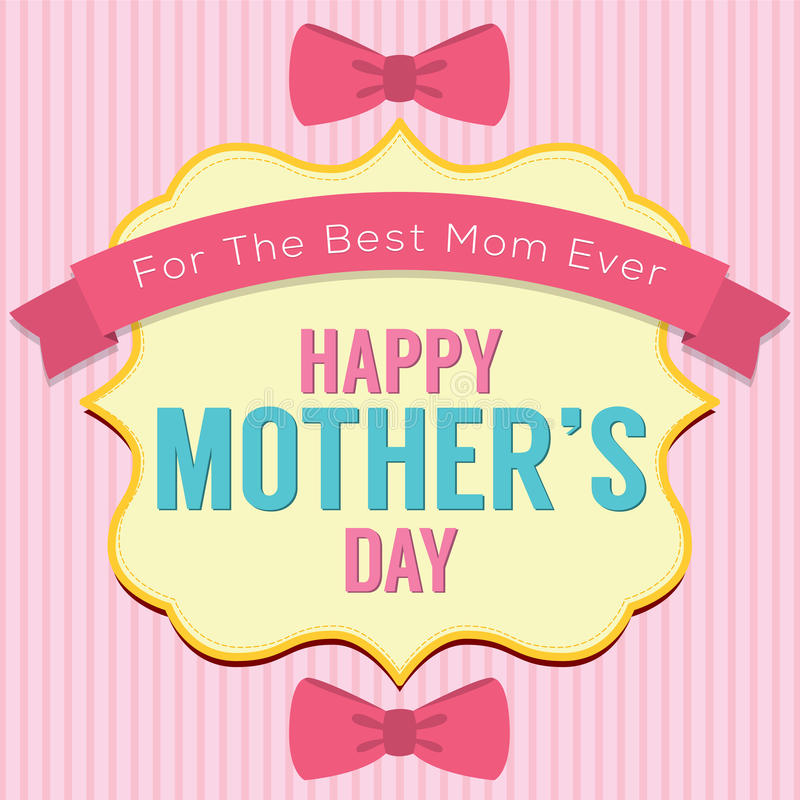 Happy Mother's Day Greeting Card Template stock illustration
