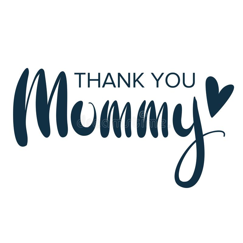 Happy mother`s day. Greeting lettering phrase in frame for greeting card.  stock illustration