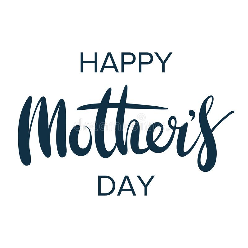 Happy mother`s day. Greeting lettering phrase in frame for greeting card.  royalty free illustration
