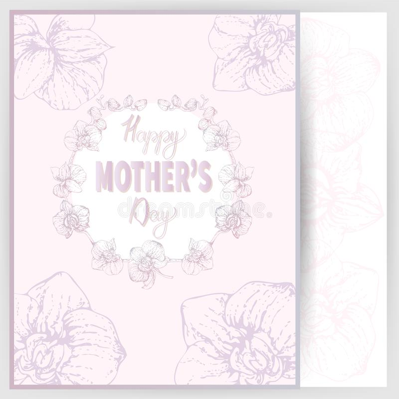 Happy mother`s day 4 stock illustration