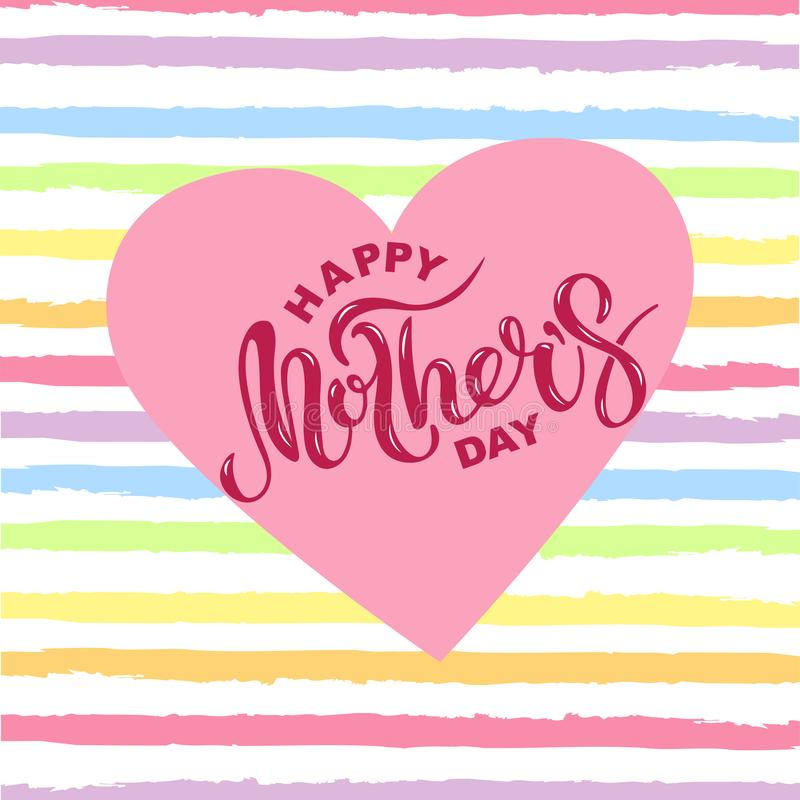 Happy Mother`s Day stock illustration