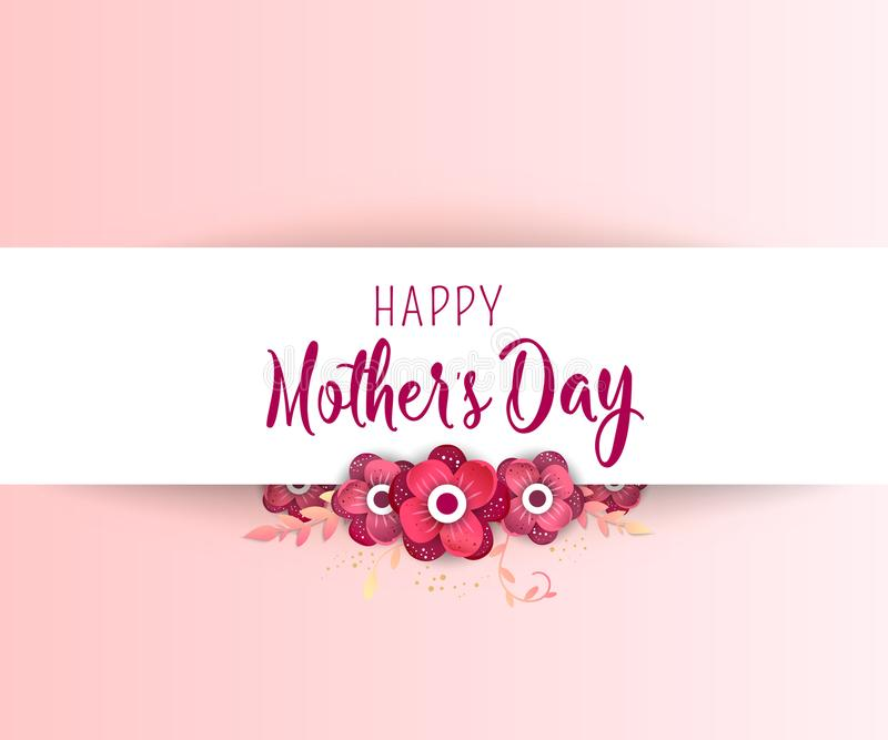 Happy Mother`s Day. royalty free illustration