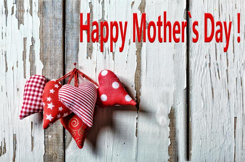 Happy Mother`s Day Hearts. Mother`s Day 26 May Mother s day stock photography