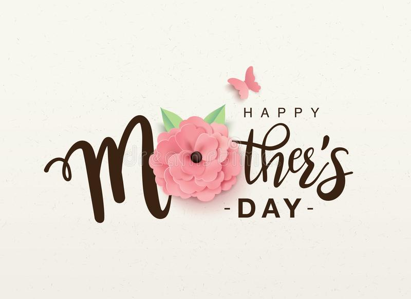 Happy Mother`s Day greeting design stock illustration