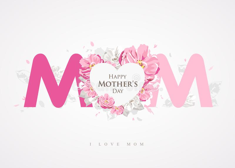 Happy mothers day message mom background greetings card stock download happy mothers day message mom background greetings card stock vector illustration of m4hsunfo