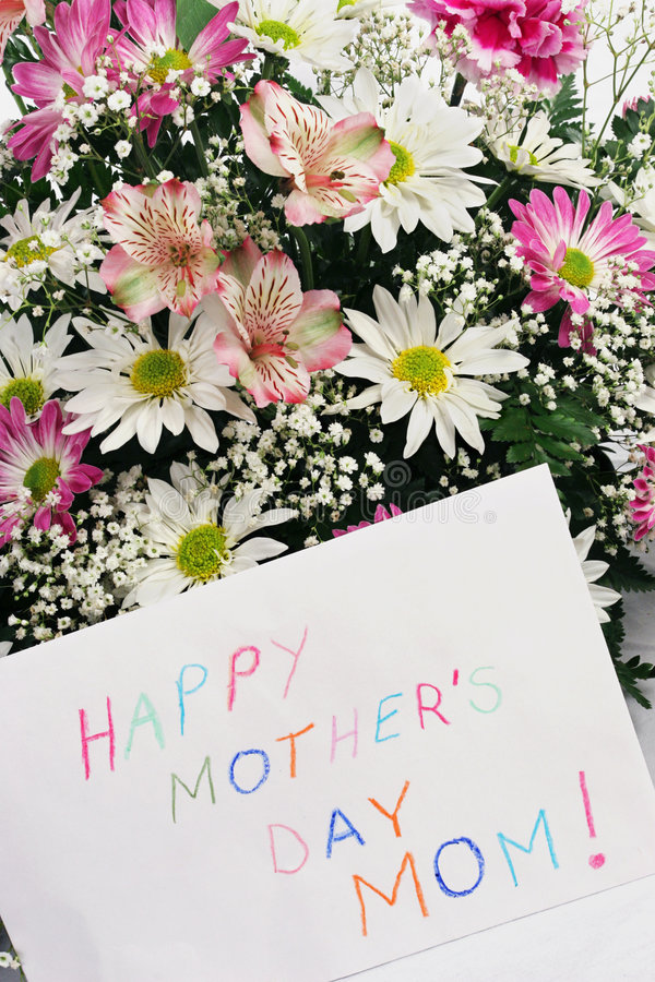 Happy Mother's Day Mom stock photo
