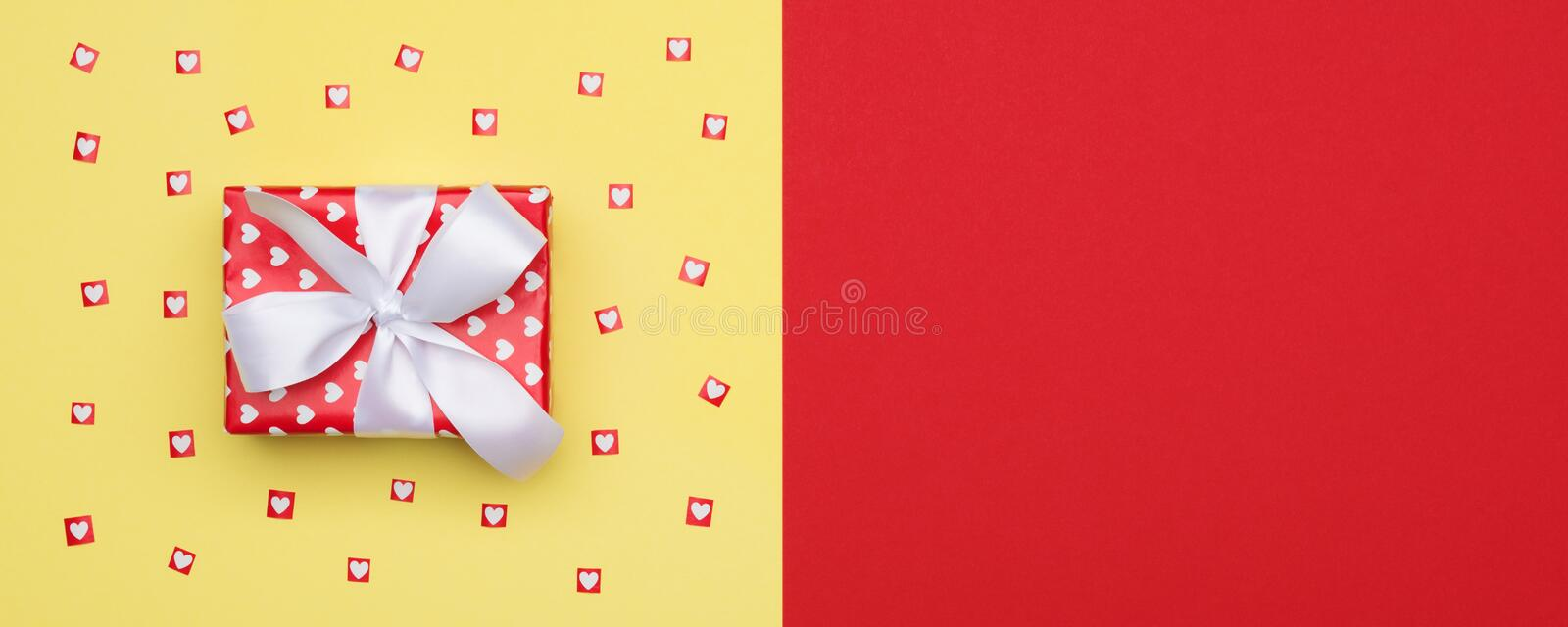 Happy Mother`s Day, Valentine`s Day, Birthday or Christmas Background. Flat lay. royalty free stock photography
