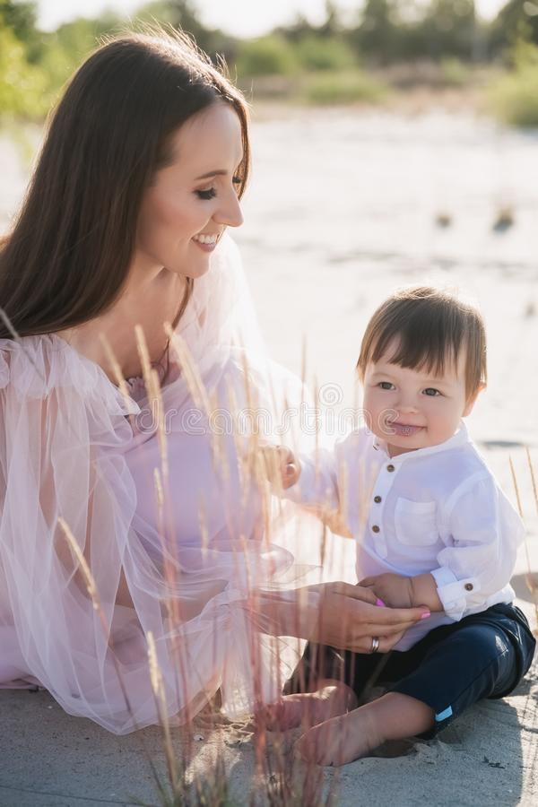 happy mother spending time with adorable baby royalty free stock image