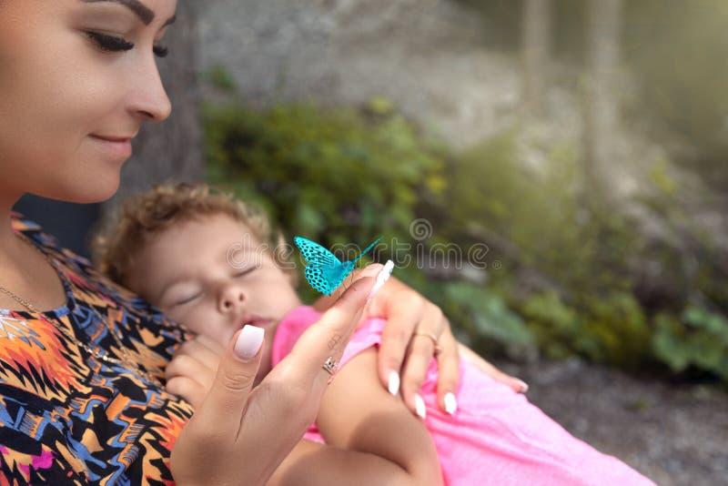 Happy motherhood concept stock photos