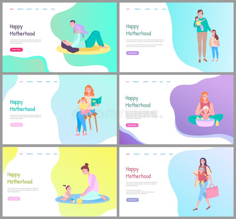 Free Happy Motherhood, Mother Caring For Child Website Royalty Free Stock Images - 145647019