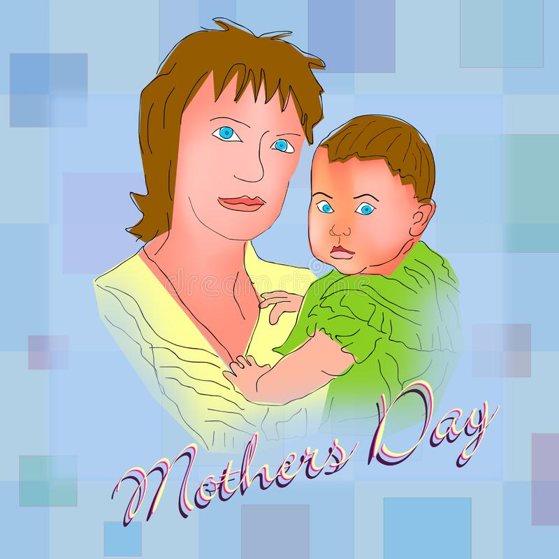 Download Happy Mothers Day 3 stock illustration. Illustration of pastel - 4794319