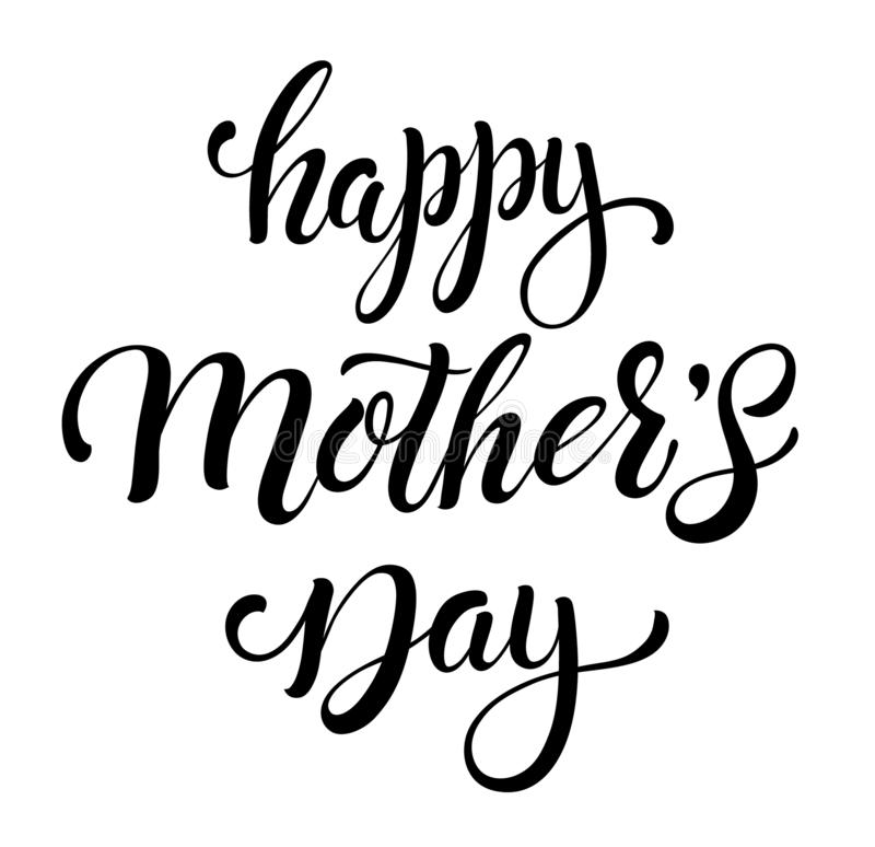 Happy Mothers Day badge stock illustration