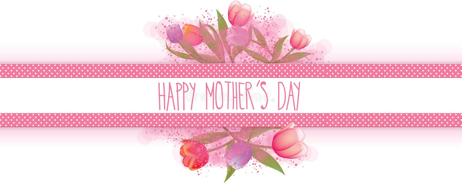 Happy mothers day banner. Full vector elements