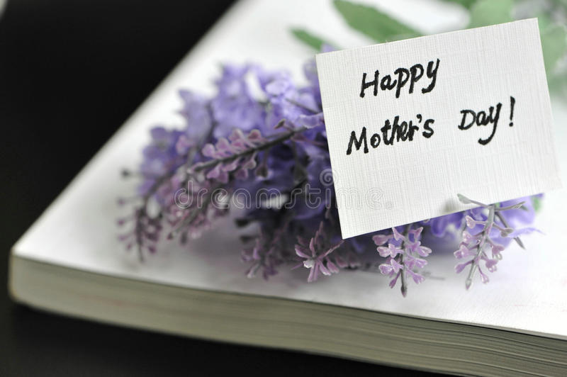 Happy Mothers Day with book royalty free stock image