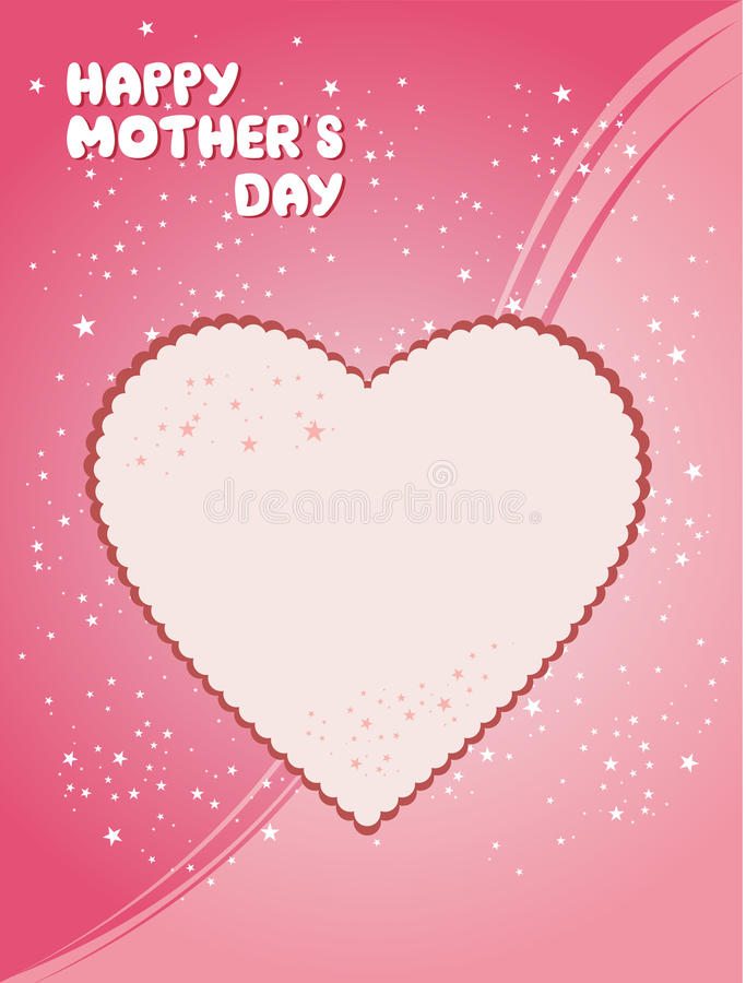 Happy Mothers Day Card stock illustration