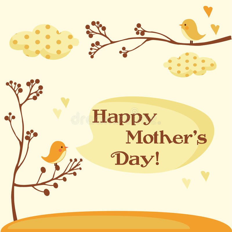 Free Happy Mothers Day Card Royalty Free Stock Photography - 13312237