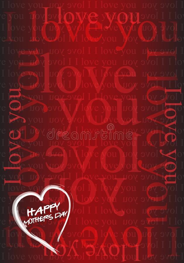 Download Happy Mothers Day card stock vector. Image of happy, script - 16974560