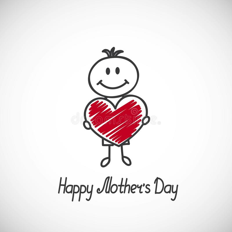 Free Happy Mothers Day Card Royalty Free Stock Photos - 40067148