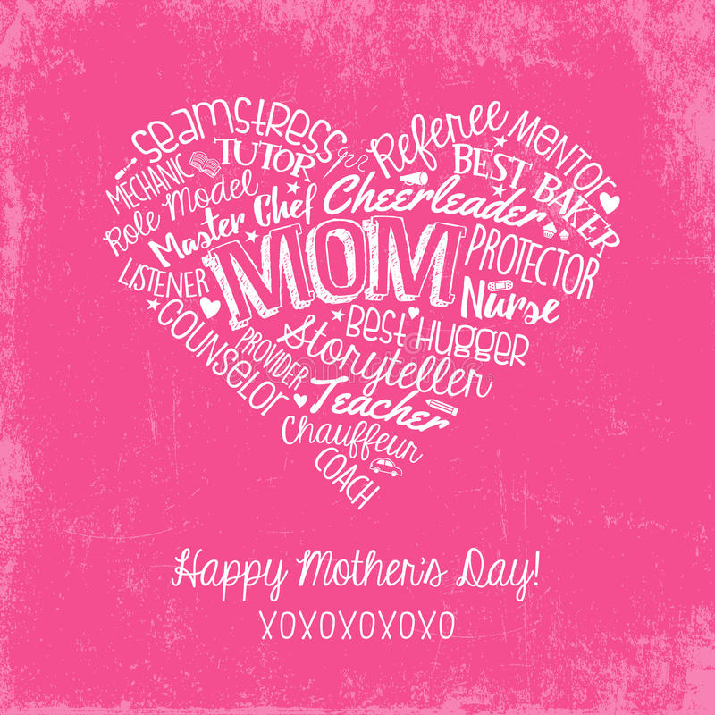 Happy mothers day card with handwritten words stock vector download happy mothers day card with handwritten words stock vector illustration of greeting text m4hsunfo