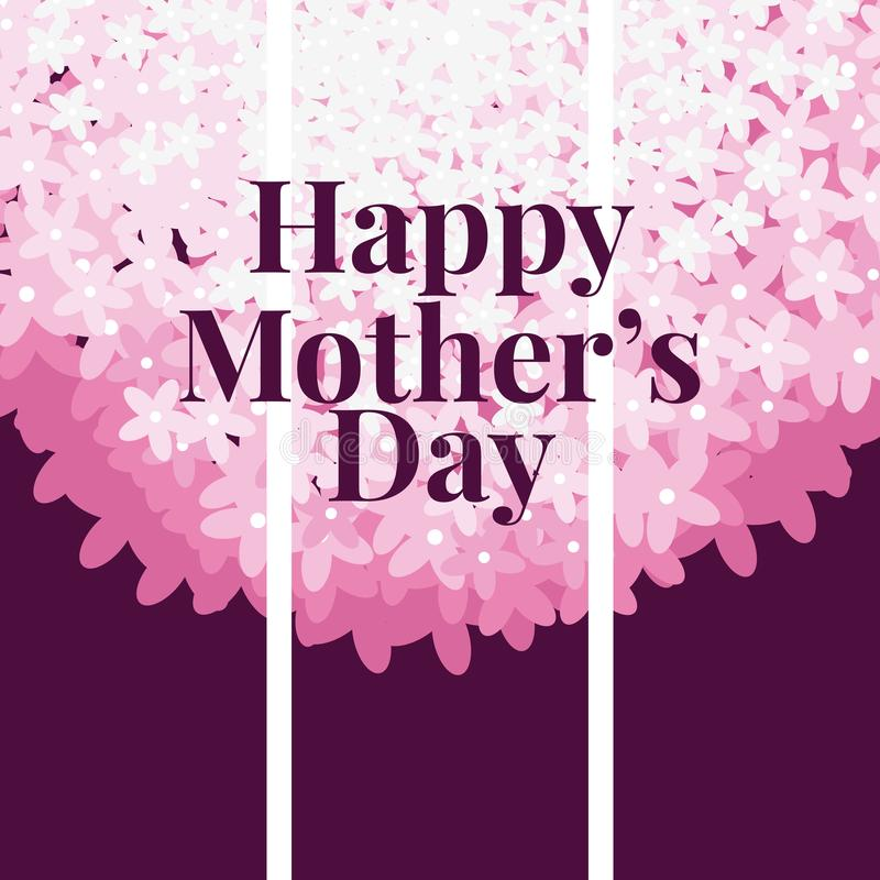Happy mothers day card royalty free illustration