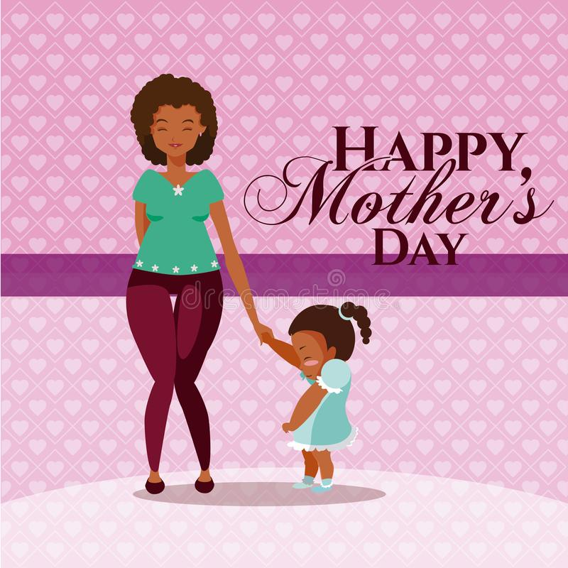 Happy mothers day cartoon royalty free illustration