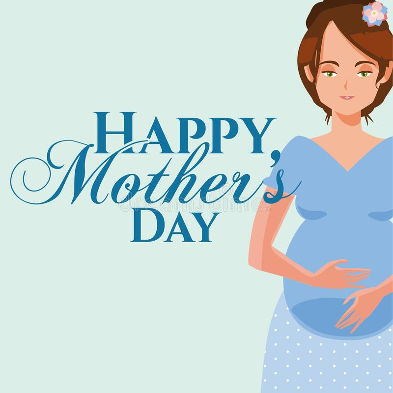 Happy mothers day cartoon. Icon vector illustration graphic design royalty free illustration
