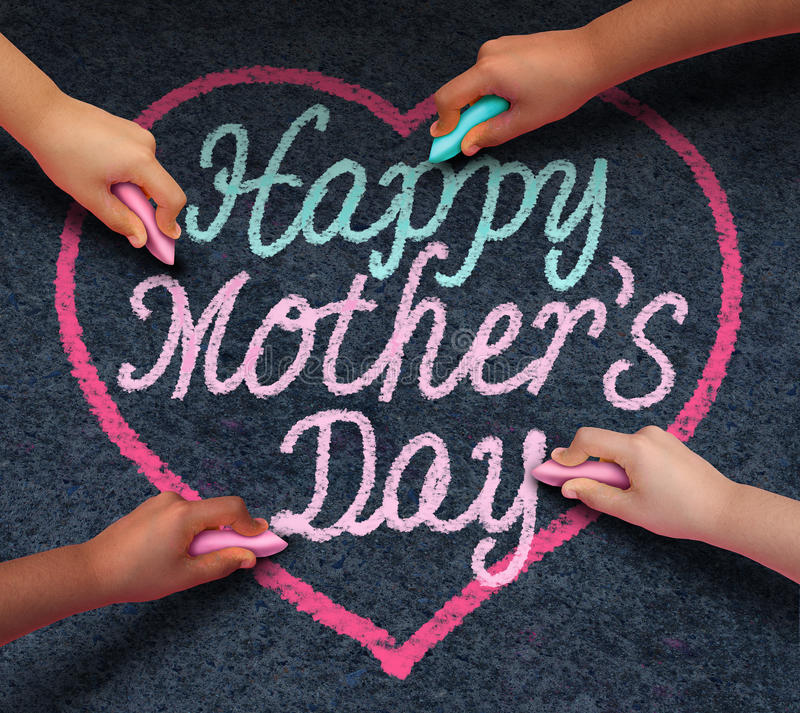 Happy Mothers Day Children royalty free illustration