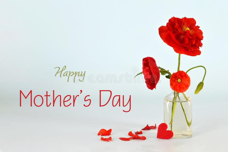 Happy Mothers Day. Mothers Day flowers royalty free stock image