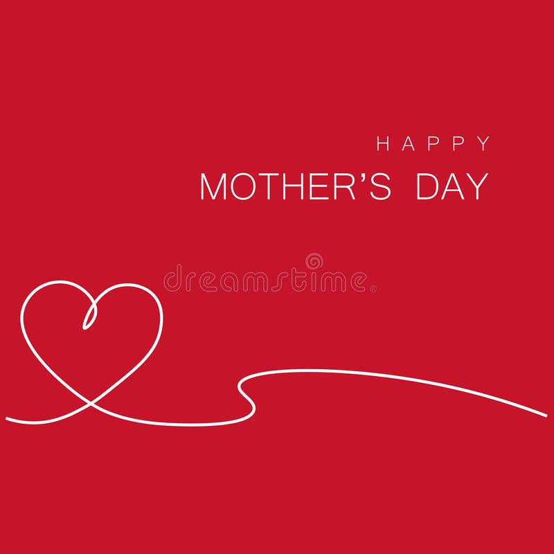 Happy mothers day greeting card, vector illustration stock illustration