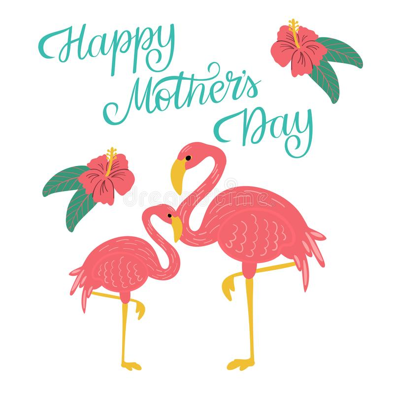 Happy Mothers Day Greeting Card Template stock photography