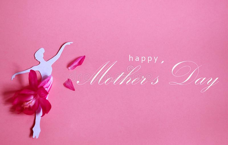 Happy mothers day greeting card, vector illustration stock photo