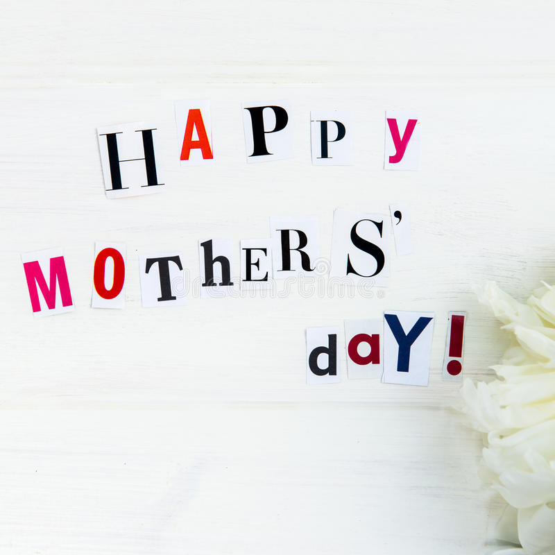 Happy mothers day letters cut out from magazines and white peoni download happy mothers day letters cut out from magazines and white peoni stock image image spiritdancerdesigns Choice Image