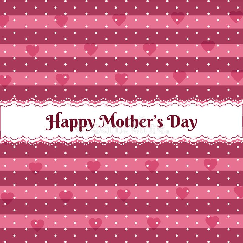 Happy mothers day over cute pattern vector illustration