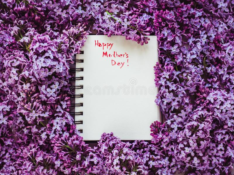 Happy Mothers Day! Preparation for the holiday stock photos