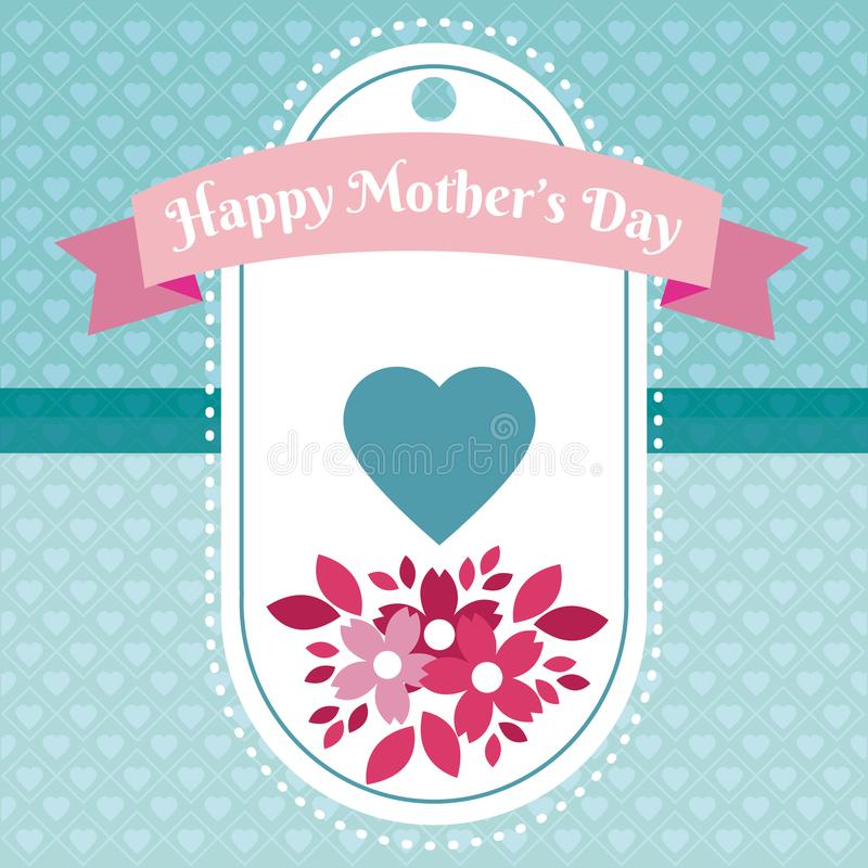 Happy mothers day tag. Icon vector illustration graphic design stock illustration