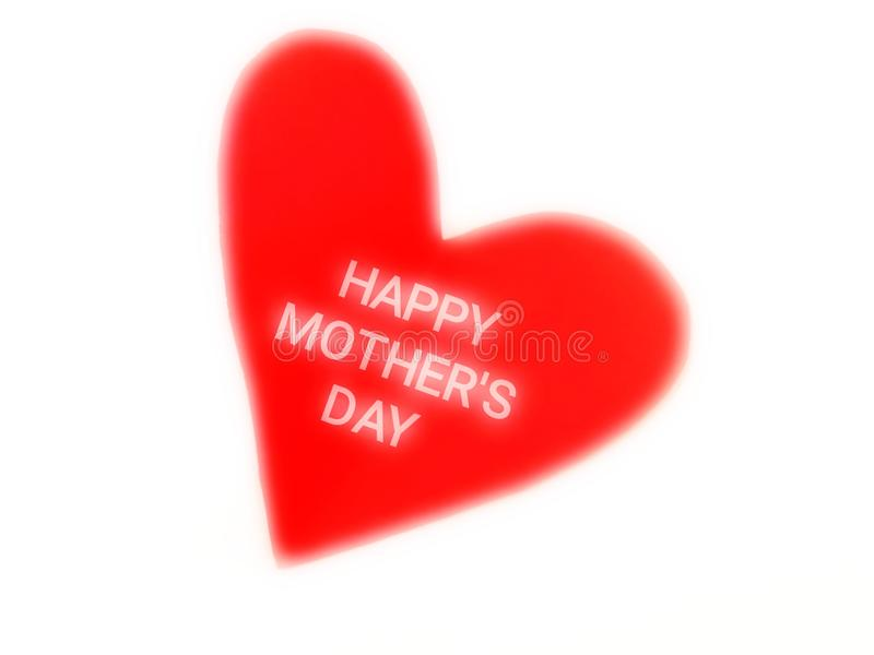 Happy mothers day, Thailand. Text in red heart, concept about love mom stock image