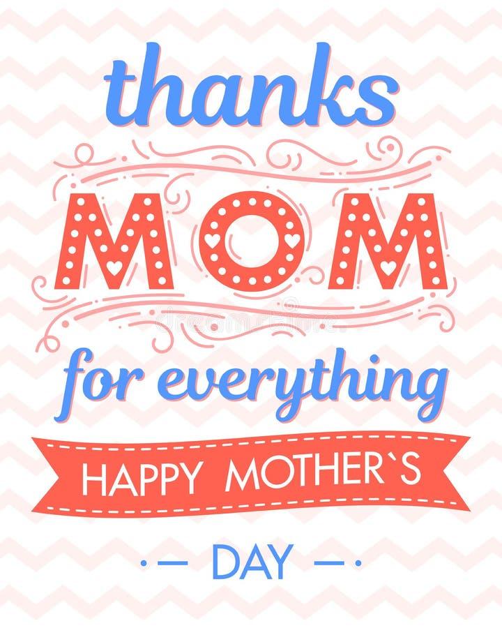 Download Happy Mothers Day Typography Stock Illustration - Illustration of design, heartsseasons: 115991047
