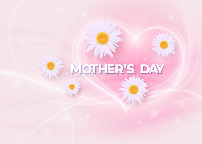 Happy Mothers Day vector holiday illustration royalty free illustration