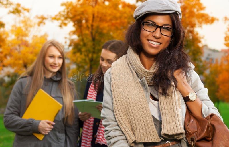 Happy mulatto student royalty free stock image